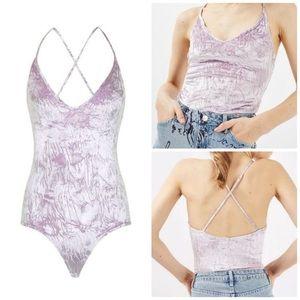 Topshop Crushed Velvet Bodysuit